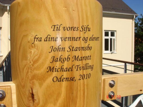 Sifu Morten Ibsen`s wooden dummy