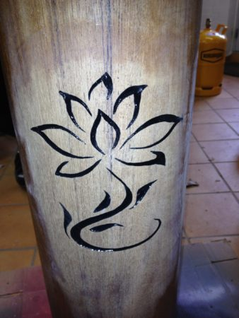 Lotus engraving