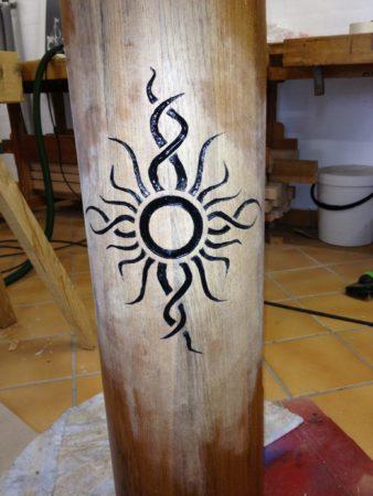 Sun engraving