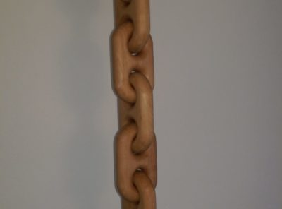 Custom made wooden chain with hook