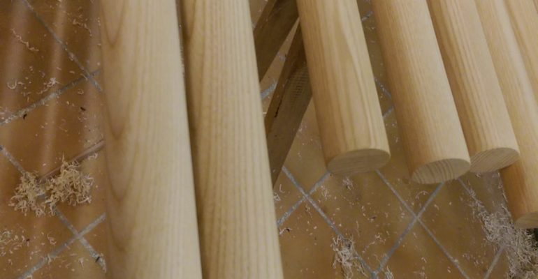 Long poles made by woodendummy.dk